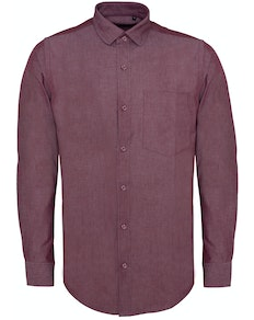 Bigdude Chambray Long Sleeve Shirt Red Tall