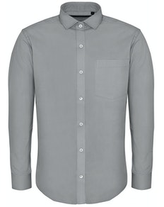 Bigdude Fine Twill Long Sleeve Shirt Stone