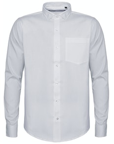 Bigdude Fine Twill Long Sleeve Shirt White Tall