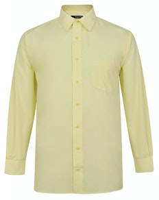 Bigdude Classic Long Sleeve Poplin Shirt Lemon Tall