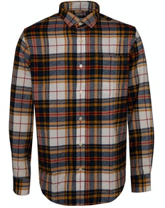Bigdude Check Flannel Long Sleeve Shirt Yellow/Red