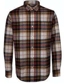 Bigdude Check Flannel Long Sleeve Shirt Yellow/Red Tall
