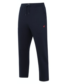 Bigdude Open Hem Loop Back Joggers Navy