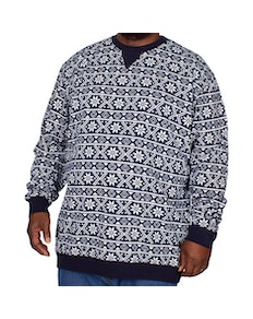 D555 Advent Printed Christmas Sweatshirt Navy