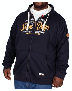 D555 Stockton Full Zip Hoody Navy