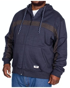 D555 Louisiana Full Zip Hoody Navy