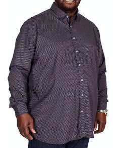 D555 Babworth Printed Long Sleeve Shirt Navy