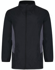 Bigdude Lightweight Contrast Panel Showerproof Jacket Black