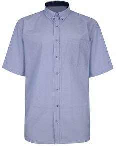 KAM Premium Stripe Shirt Blue