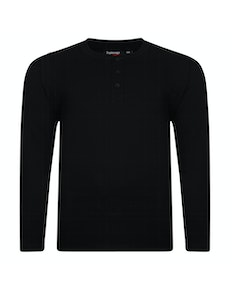 Espionage Long Sleeve Grandad T-Shirt Black