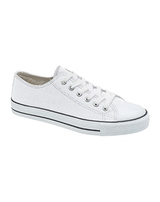 Canvas Leisure Trainers White