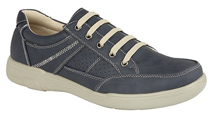 Casual Lace Up Leisure Shoes Navy