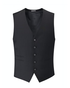 Skopes Superfine Twill Waistcoat- Black