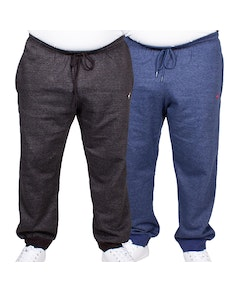 Bigdude Marl Joggers Twin Pack Black/Denim