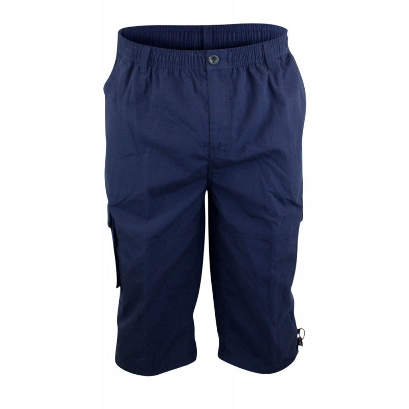 D555 Mason Navy Cargo Capri Pant with Leg Pocket
