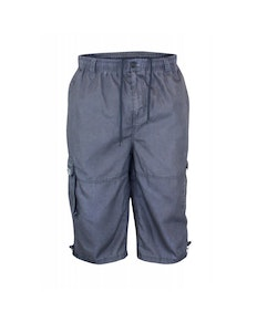 D555 Mason Grey Cargo Capri Pant with Leg Pocket