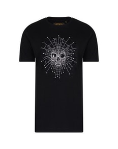 KAM Skeleton Web Printed T-Shirt Black
