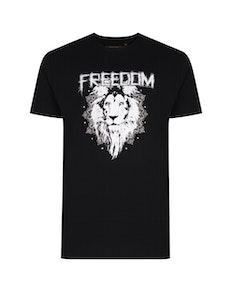 KAM Freedom Printed T-Shirt Black