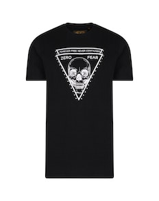 KAM Zero Fear Printed T-Shirt Black