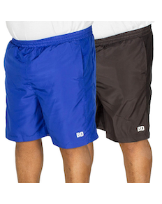 Bigdude Mesh Panel Shorts Twin Pack Black/Blue