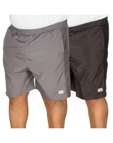 Bigdude Mesh Panel Shorts Twin Pack Black/Charcoal
