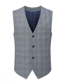Skopes Bracali Check Waistcoat Grey/Teal