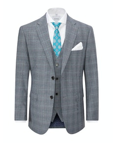 Skopes Bracali Check Jacket Grey/Teal