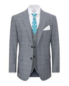 Skopes Bracali Check Jacket Grey/Teal