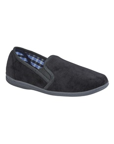 Sleepers Wilson Memory Foam Slipper Black