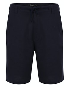 Bigdude Linen Shorts Navy