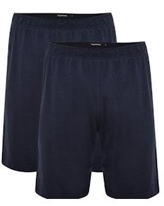 Bigdude Twin Pack Classic Pyjama Shorts Navy