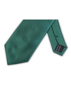 Knightsbridge Extra Long Geometric Tie Green