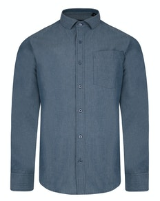 Bigdude Chambray Long Sleeve Shirt Blue