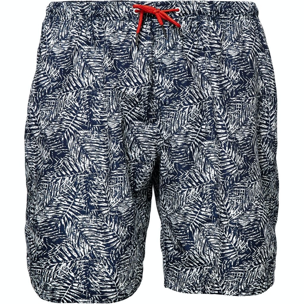 Replika Leaf Printed Swim Shorts Navy