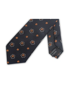 Knightsbridge Extra Long Floral Tie Orange
