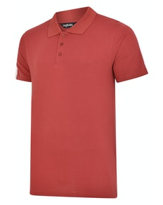 Bigdude Overarm Stripe Polo Shirt Burgundy