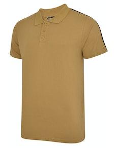 Bigdude Overarm Stripe Polo Shirt Khaki