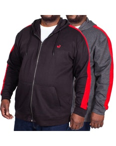 Bigdude Overarm Stripe Hoody Twin Pack Black/Charcoal