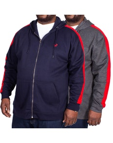Bigdude Overarm Stripe Hoody Twin Pack Charcoal/Navy