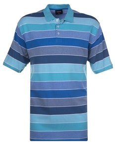 Espionage Auto Stripe Polo Shirt Mint Navy Green