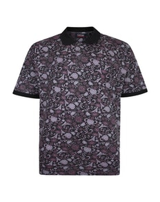 Espionage Floral Polo Black