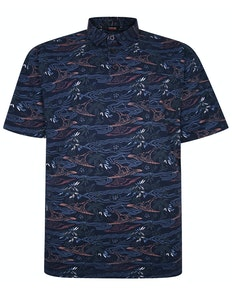 Espionage Floral Polo Shirt Navy