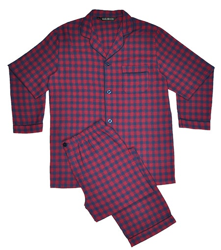 Rael Brook Brushed Check Pyjamas Red/Navy