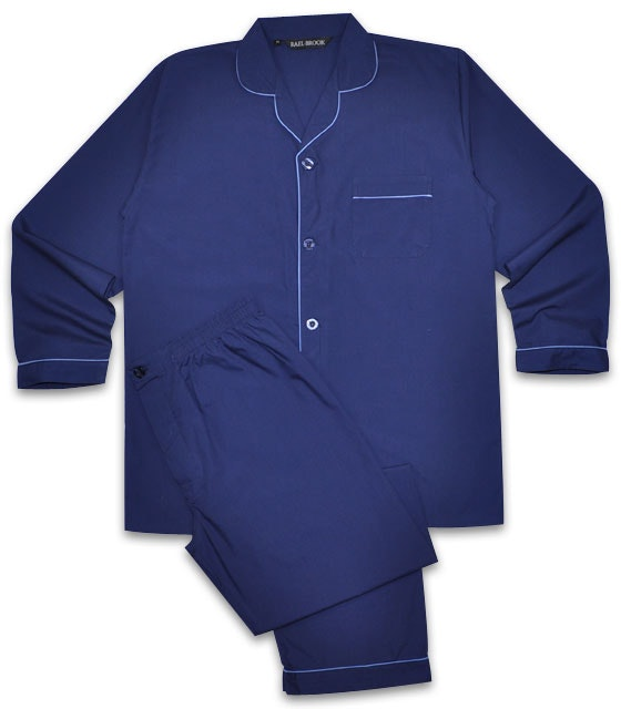 Pyjamas Long Sleeve & Trousers Navy