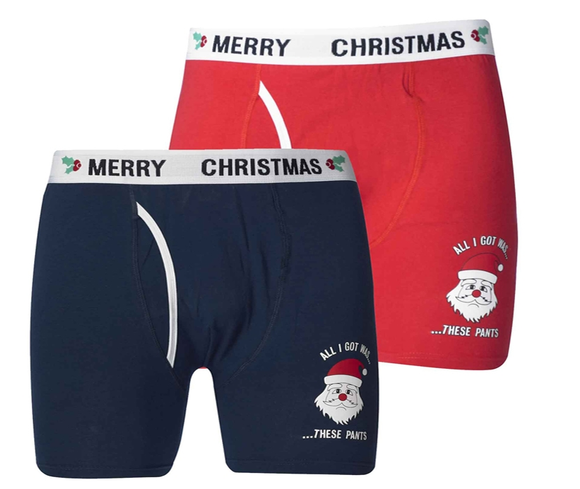 D555 Twin Pack Christmas Boxer Short