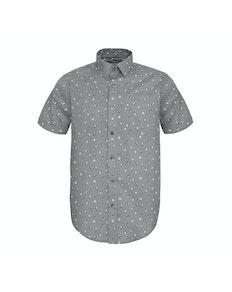 Bigdude Short Sleeve Penguin Print Shirt Grey