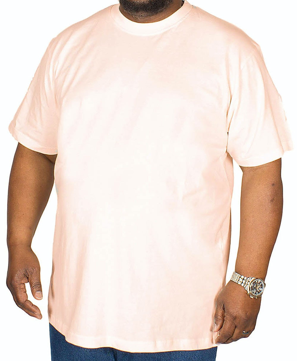 Bigdude Plain Crew Neck T-Shirt Pale Pink