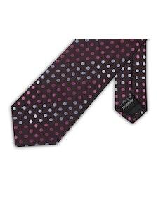 Knightsbridge Extra Long Polka Dot Tie Pink/Silver