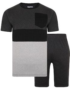 Bigdude Cut & Sew Marl Pyjama Set Charcoal