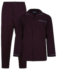 Kings Club Plain Pyjamas Set Aubergine